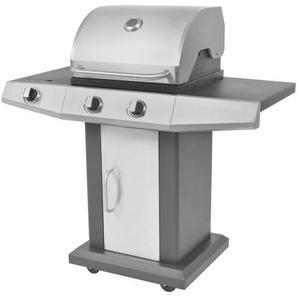 Barbecue à gaz 2 + 1 zone de cuisson Noir et argenté - CREARTIVE DESIGN