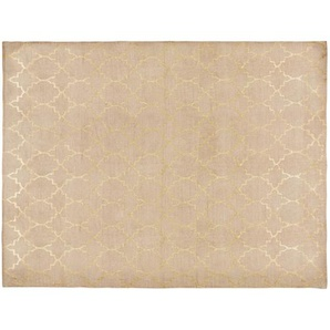 Tapis en coton beige à motifs 140x200 NESTOR