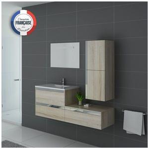 Meuble de salle de bain simple vasque SUBLISSIMO Scandinave - DISTRIBAIN