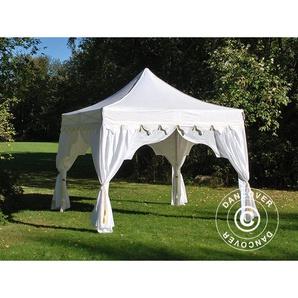 Tente Pliante Chapiteau pliable Tonnelle pliante Barnum pliant FleXtents PRO Raj 3x3m Blanc/Doré - DANCOVER