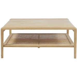 Table basse carrée avec cannage en rotin Canopy
