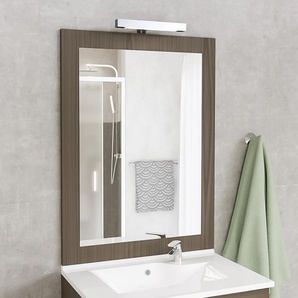 Miroir MIRALT décor vienna avec applique LED - 90x109 cm