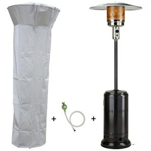Parasol chauffant gaz 14kW Noir Radiateur de terrasse (inclus housse lest et connectique) - PROWELTEK