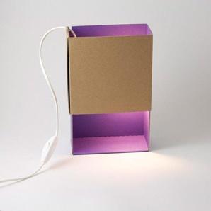 BOITE A LUMIERE-Lampe à poser Carton L17cm Violet ¿adónde