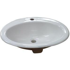 Vasque en Porcelaine ovale à encastrer