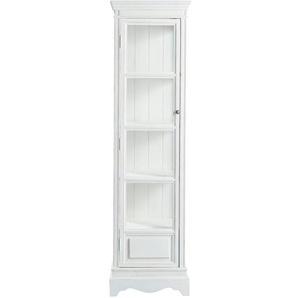 Vitrine en bois de paulownia blanche L 49 cm Joséphine