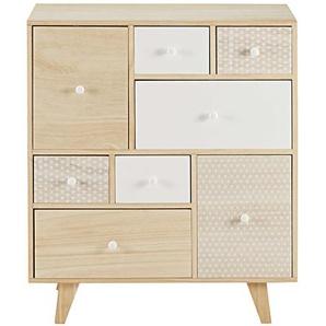 Cabinet 8 tiroirs en paulownia Spring