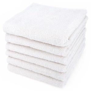 Lot de 6 serviettes de toilette 50x90 cm ALPHA blanc