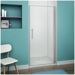 80x187cm Porte pivotante porte de douche paroi de douche en niche verre anticalcaire - AICA SANITAIRE