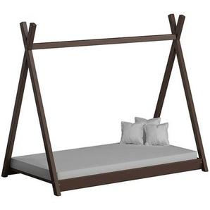 Lit cabane Tipi pour enfant - Marron - 70 cm x 160 cm