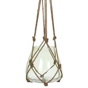 EDELMAN Vase à suspendre Verre - Vert - H120 x D24 cm