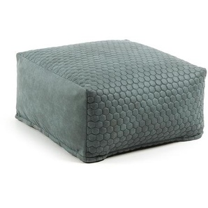 Kave Home - Pouf Indam 60 x 60 cm turquoise