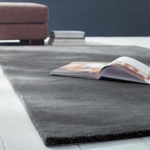 Tapis à poils courts en laine anthracite 200 x 200 cm SOFT