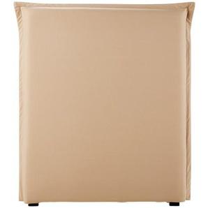 Housse de tête de lit 90 en coton beige