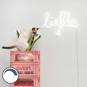 Applique blanche avec télécommande avec LED - Neon Love Qazqa Design, Moderne Luminaire avec variateur interieur