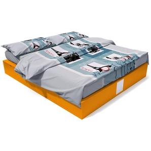 Lit cube deux places avec tiroirs 160x200 Orange