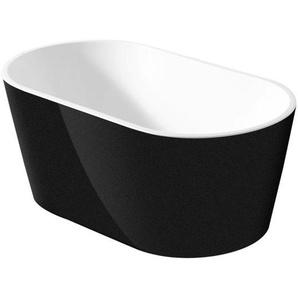 Saniclass Black Pearl baignoire îlot 170x80x58 noir et blanc 2432013