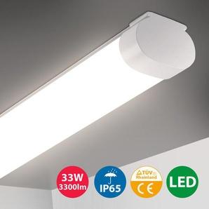 Oeegoo 33W LED Tube 120CM, Plafonnier Eclairage Puissant, IP65 Etanche, 3300LM, Réglette LED, Lampe de Plafond pour Atelier, Garage, Bureau, Terrasse, Cave, Lumière Blanche Neutre 4000K