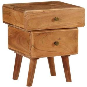 Table de nuit chevet commode armoire meuble chambre bois dacacia massif 40 x 35 x 49 cm - Bois - HELLOSHOP26