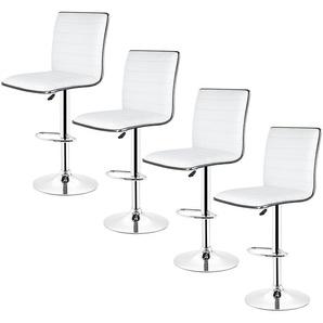 Tabouret de bar lot de 4, Tabouret de bar design, Chaise de Bar Noir Pivotant et réglable en Hauteur 60- 81cm - JEOBEST