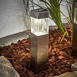 Lampe solaire LED carrée Barny en acier, 4 pièces
