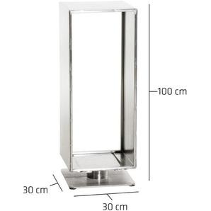 Porte-bûches Basil en acier 30x30x100 cm - CLP