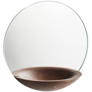 Woud Pocket - Miroir Ø26cm - chêne fumé