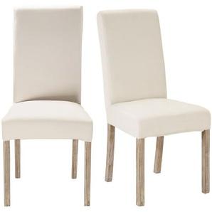 2 chaises à housser en pin blanchi Margaux