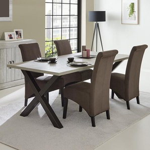 Table à manger contemporaine couleur bois MEREDITH