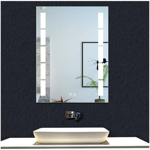 OCEAN Miroir de salle de bain 80x60cm anti-buée miroir mural avec éclairage LED modèle Bambou - OCEAN SANITAIRE