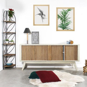Buffet scandinave MDF 2 portes coulissantes