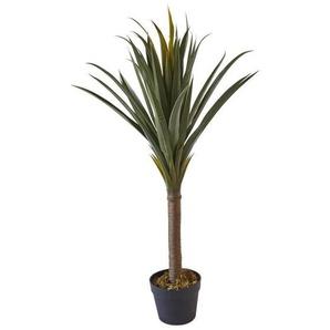 Plante artificielle PE - 90 h - Pot noir
