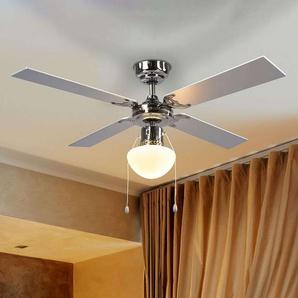 Ventilateur de plafond lumineux Milana, E27