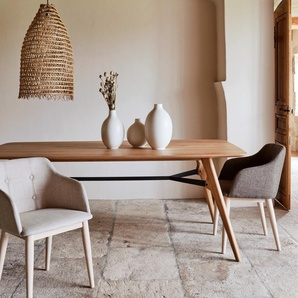 Table de repas rectangulaire bois et acier - 12 places
