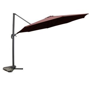 Castillo chocolat : Parasol déporté, rond Ø 350cm, rotatif à 360°