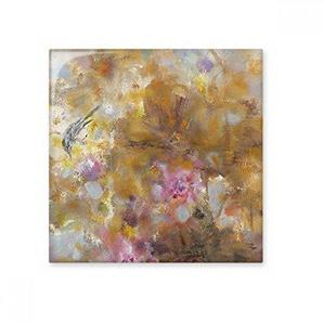 DIYthinker Septembre Lotus xjj Peinture à lhuile Glossy carrelage céramique Salle de Bain Cuisine décoration Murale Pierre Artisanat Cadeaux