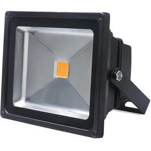 Auralum 50W Projecteurs LED Spot LED Lampe IP65 Étanche Lumière Blanc Chaud 3000K Couleur Noir