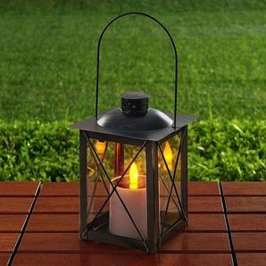 Lanterne solaire LED Basila en noir