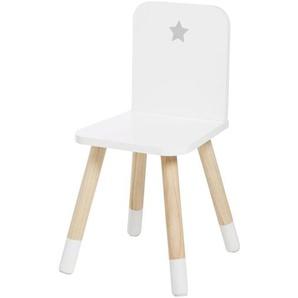 Chaise enfant blanche imprimé étoile pieds en pin Dreams