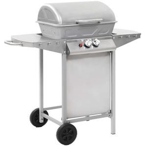 Barbecue à gaz avec 2 zones de cuisson Acier Argenté - CREARTIVE DESIGN