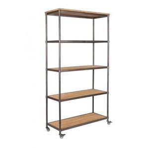 Bibliothèque en bois et métal Simon - Boite à design