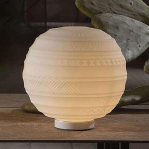 Lampe à poser design en verre Braille, 25 cm