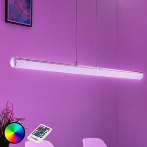 Suspension LED Fria, cylindre, RVB, télécommande