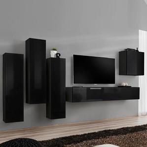 Ensemble meuble TV noir design FORENZA 4