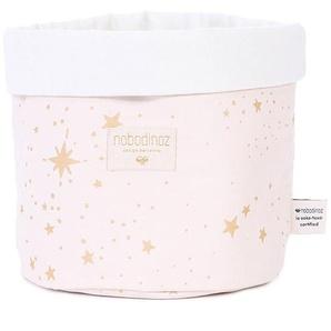 Nobodinoz Panier de Rangement Panda Medium - Gold Stella & Dream Pink