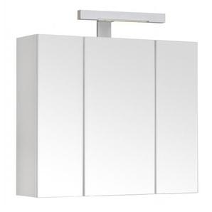 Meuble à miroir PIANO 60 cm - armoire de rangement pour salle de bain avec éclairage LED et bloc prise - ALLIBERT
