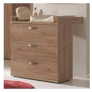 WP Commode à langer 3 tiroirs teinté chêne chambord