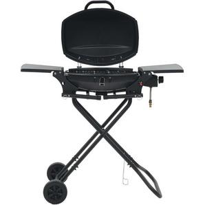 Hommoo Barbecue au gaz portatif avec zone de cuisson Noir