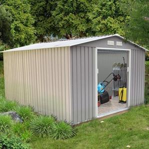 Sancy 8.84 m² : abri de jardin en acier anti-corrosion gris - CONCEPT-USINE