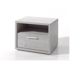 Chevet contemporain chêne grisé Victoria - Chêne grisé - DELADECO